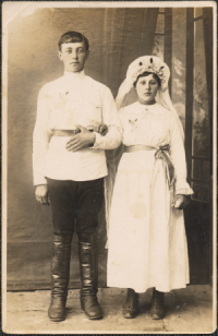 My parents, Jacob and Olga, on their wedding day