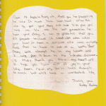 Letter from Haley